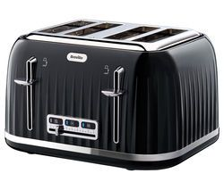 BREVILLE Impressions VTT476 4-Slice Toaster - Black Best Price, Cheapest Prices