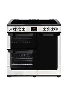 New World NW VISION 90EElectric 90cm Range Cooker with Connection -Stainless Steel Best Price, Cheapest Prices