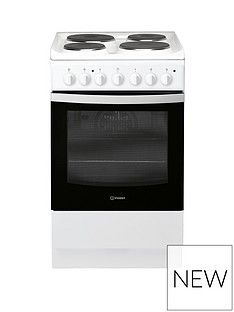 Indesit IS5E4KHW 50cm Electric Solid Plate Single Oven Cooker - White Best Price, Cheapest Prices