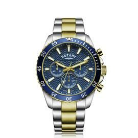 Rotary Men's Two Tone Chronograph Bracelet Watch Best Price, Cheapest Prices