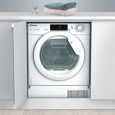 Candy CBTDH7A1TE Integrated 7Kg Heat Pump Tumble Dryer - White - A+ Rated Best Price, Cheapest Prices