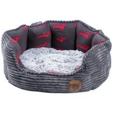Petface Grey Bamboo & Jumbo Cord Deli Bed - Small Best Price, Cheapest Prices