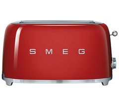 SMEG TSF02RDUK 4-Slice Toaster - Red Best Price, Cheapest Prices