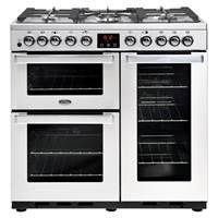 Belling Cookcentre 90DFT Professional Deluxe 90cm Dual Fuel Range Cooker Best Price, Cheapest Prices
