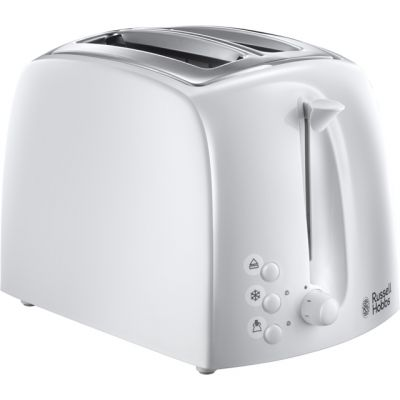 Russell Hobbs Textures 21640 2 Slice Toaster - White Best Price, Cheapest Prices