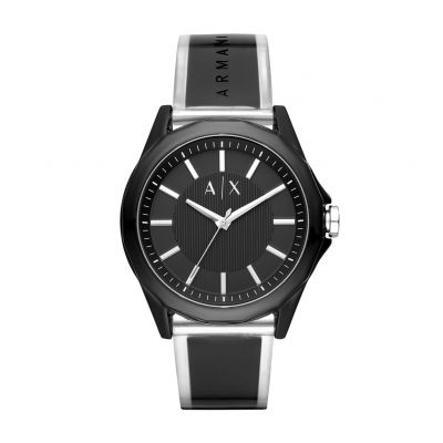 Armani Exchange Men's Black Strap Watch Best Price, Cheapest Prices