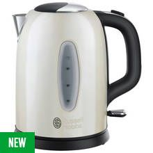 Russell Hobbs 25512 Worcester Kettle - Cream Stainless Steel Best Price, Cheapest Prices