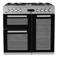 Beko KDVF90X 90cm Dual Fuel Range Cooker in Stainless Steel