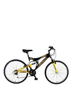 Flite Taser 18-Speed Dual Suspension Mens Mountain Bike 18 Inch Frame Best Price, Cheapest Prices