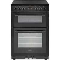 New World 444444028 60cm Electric Double Oven Cooker - Black Best Price, Cheapest Prices