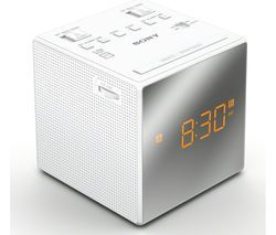 SONY ICF-C1TW FM/AM Clock Radio - White Best Price, Cheapest Prices