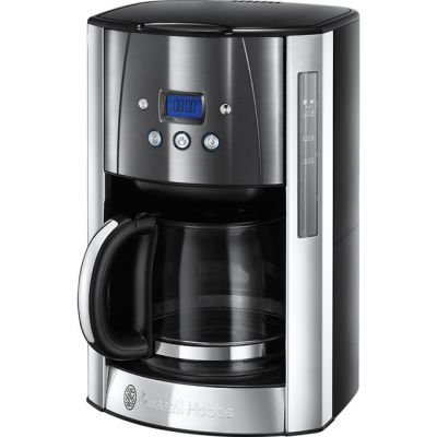 Russell Hobbs Luna 23241 Filter Coffee Machine with Timer - Grey Best Price, Cheapest Prices