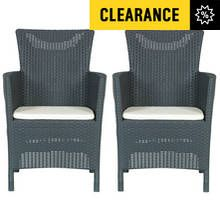 Keter Iowa Chair Set 2 Pack - Graphite Best Price, Cheapest Prices