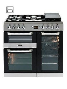 Leisure CS90F530X Cuisinemaster 90cm Dual Fuel Range Cooker with Connection - Stainless Steel Best Price, Cheapest Prices