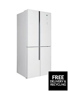 Hoover HFDN180UK 78.5cm Wide Total No Frost 4-Door American Style Fridge Freezer - White Best Price, Cheapest Prices