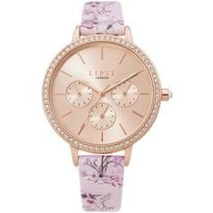 Lipsy Rose Gold Coloured Faux Leather Strap Watch Best Price, Cheapest Prices