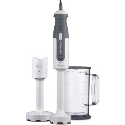 Kenwood Triblade HDP300WH Hand Blender with 2 Accessories - White Best Price, Cheapest Prices