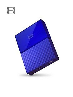 Western Digital My Passport 4TB Portable External Hard Drive - Blue Best Price, Cheapest Prices