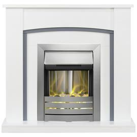 Adam Chilton Electric Fire Suite with Helios - White Best Price, Cheapest Prices