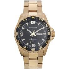 Accurist Men's Gold Plated Stainless Steel Bracelet Watch Best Price, Cheapest Prices
