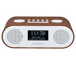 SANDSTROM S-DBTW18 DAB+/FM Bluetooth Clock Radio - Wood Best Price, Cheapest Prices