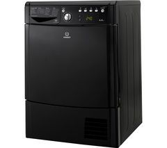 INDESIT Ecotime IDCE8450BKH Condenser Tumble Dryer - Black Best Price, Cheapest Prices