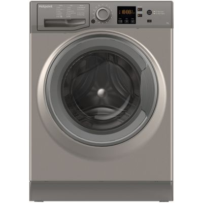 Hotpoint NSWM743UGGUK 7Kg Washing Machine with 1400 rpm - Graphite - A+++ Rated Best Price, Cheapest Prices