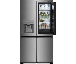 LG Signature Instaview LSR100 Smart 60/40 Fridge Freezer - Stainless Steel Best Price, Cheapest Prices