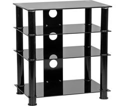 MMT LFBLK650 600 mm Hi-Fi Stand - Black Best Price, Cheapest Prices