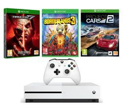 MICROSOFT Xbox One S 1 TB, Borderlands 3, Tekken 7 & Project Cars 2 Bundle Best Price, Cheapest Prices