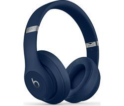 BEATS Studio 3 Wireless Bluetooth Noise-Cancelling Headphones - Blue Best Price, Cheapest Prices