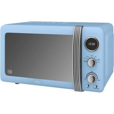 Swan Retro SM22030BLN 20 Litre Microwave - Blue Best Price, Cheapest Prices
