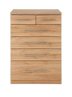 Prague 4 + 2 Graduated Chest of Drawers Best Price, Cheapest Prices
