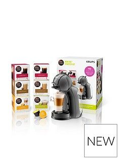 Nescafe Dolce Gusto Mini-Me® Automatic Coffee Machine by KRUPS® - Black and Grey Best Price, Cheapest Prices