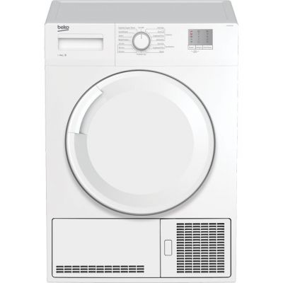 Beko DTGC8001RW 8Kg Condenser Tumble Dryer - White - B Rated Best Price, Cheapest Prices