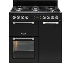 LEISURE Cookmaster CK90F232K 90 cm Dual Fuel Range Cooker - Black & Chrome Best Price, Cheapest Prices
