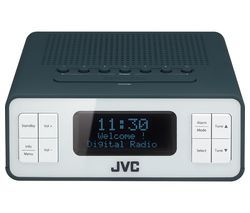 JVC RA-D38-H DAB/FM Clock Radio - Grey Best Price, Cheapest Prices
