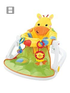 Fisher-Price Giraffe Sit-Me-Up Floor Seat with Tray Best Price, Cheapest Prices