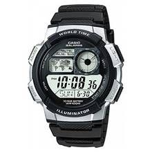Casio Men's World Time LCD Black Resin Strap Watch Best Price, Cheapest Prices