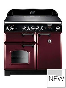 Rangemaster  CLA100ECCY Classic 100cm Wide Electric Range Cooker - Cranberry Best Price, Cheapest Prices