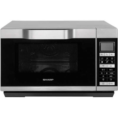 Sharp R861SLM 25 Litre Combination Microwave Oven - Silver Best Price, Cheapest Prices