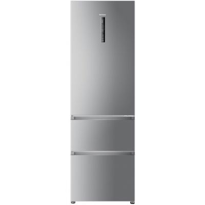 Haier A3FE635CGJE 60/40 Frost Free Fridge Freezer - Silver - A+ Rated Best Price, Cheapest Prices