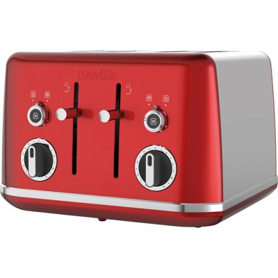 Breville Lustra VTT852 4 Slice Toaster - Candy Red Best Price, Cheapest Prices
