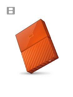 Western Digital My Passport 4TB Portable External Hard Drive - Orange Best Price, Cheapest Prices