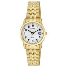 Citizen Ladies' Eco-Drive Gold Tone Expander Bracelet Watch Best Price, Cheapest Prices