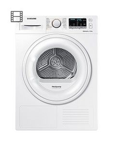 Samsung DV80M50101W/EU8kg Tumble Dryer with Heat Pump Technology - White Best Price, Cheapest Prices
