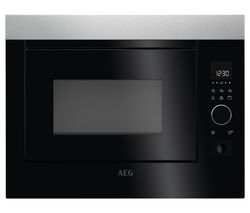 AEG MBE2658D-M Built-in Microwave with Grill - Stainless Steel & Black Best Price, Cheapest Prices