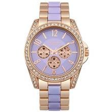 Identity London Ladies' Stone Set Lilac Dial Bracelet Watch Best Price, Cheapest Prices