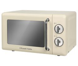 RUSSELL HOBBS RHRETMM705C Solo Microwave - Cream Best Price, Cheapest Prices