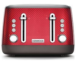KENWOOD Mesmerine TFM810RD 4-Slice Toaster - Deep Red Best Price, Cheapest Prices